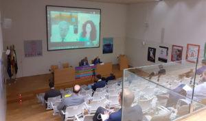 Los consejeros Rocío Ruiz y Rogelio Velasco en el encuentro virtual sobre la Compra Pública de Innovación para la nueva Teleasistencia.