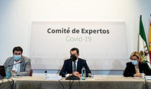 Moreno presidió el comité de expertos para analizar la situación de la pandemia de Covid-19 en Andalucía.
