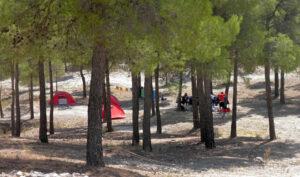 Campamento de Las Almohadillas, en la provincia de Almería.