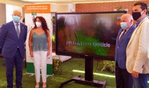 Los consejeros Javier Imbroda, Rocío Ruiz y Jesús Aguirre, en la presentación de la plataforma.