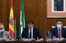 El consejero de Turismo, Regeneración, Justicia y Administración Local, Juan Marín, este martes en el Parlamento.