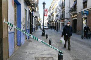 Una calle de Santa Fe tras los efectos de los terremotos.