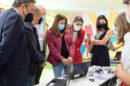 La viceconsejera de Educación, María del Carmen Castillo, visitó el colegio de Infantil y Primaria Flor de Azahar de Cártama.